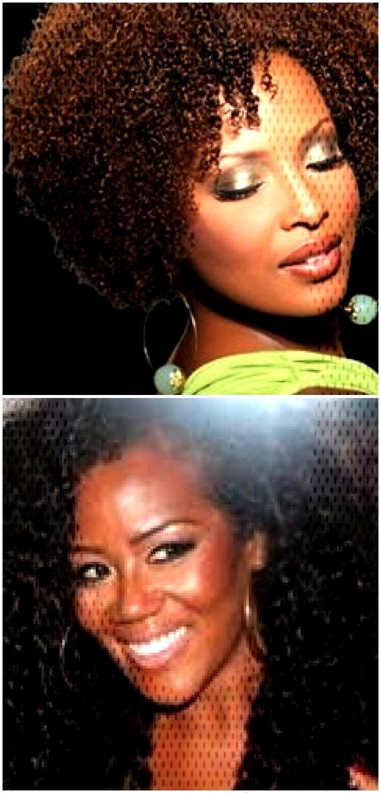 (Coiffure: Afro) Longueur: Moyenne / Longueur du menton (Coiffure: Afro) Longueur: Moyenne / Longue