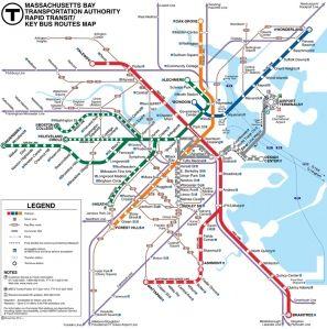 Boston On Usa Map.Subway Map Boston Usa Travel Usa Boston Pinterest Subway