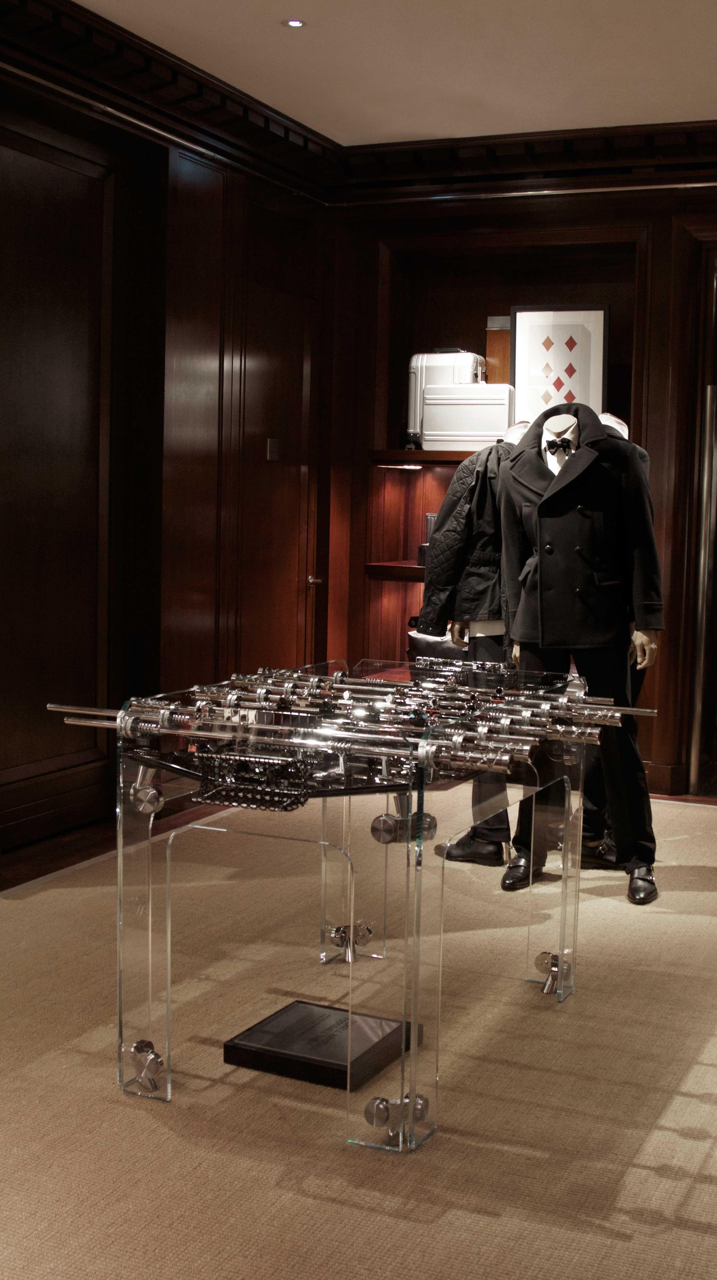 Teckell with Retailers Ralph Lauren  #teckell #calciobalilla #cristallino #trasparent #ralphlauren #london