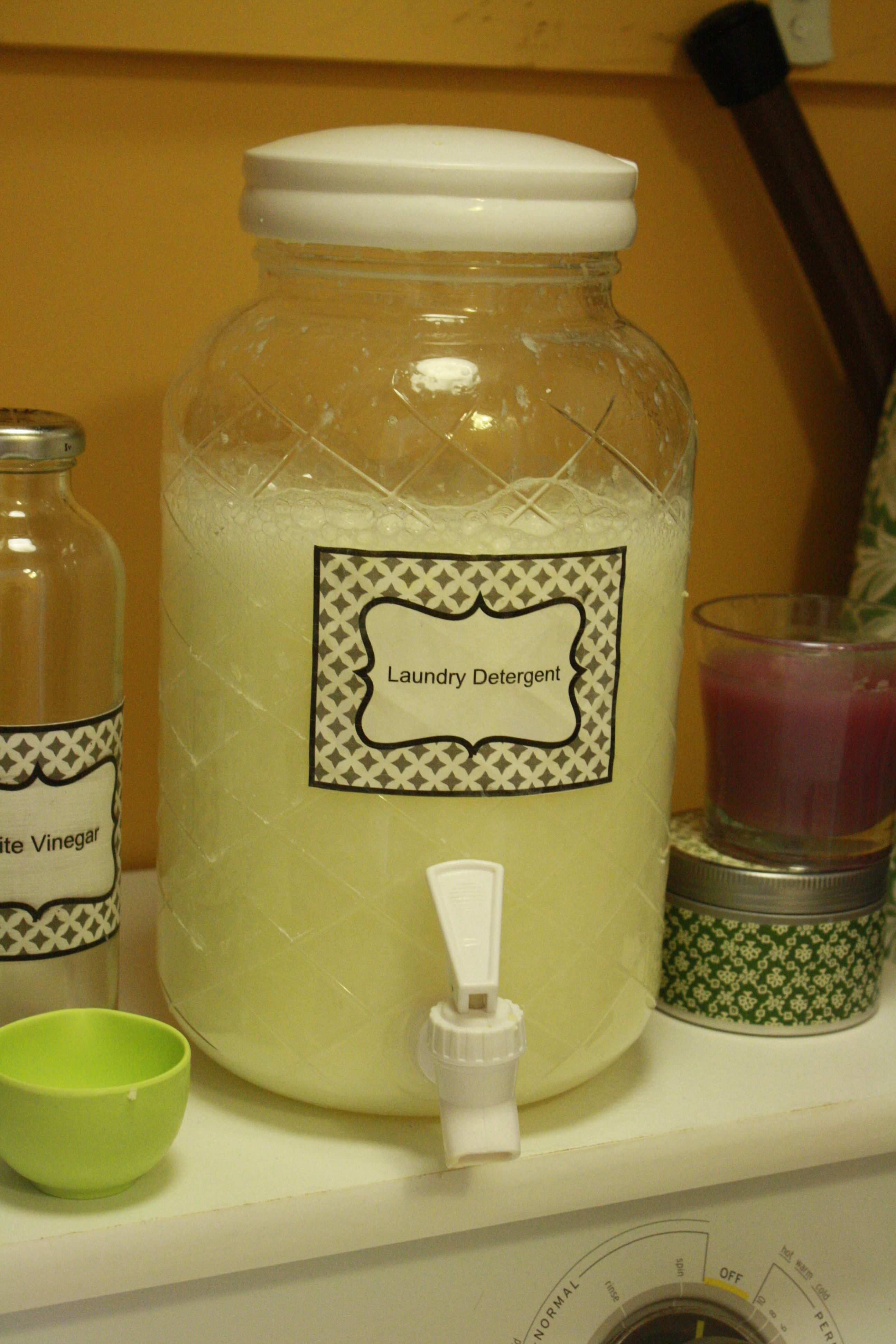 A recipe for homemade laundry detergent for just .4 cents per load. Homemade Cleaning
