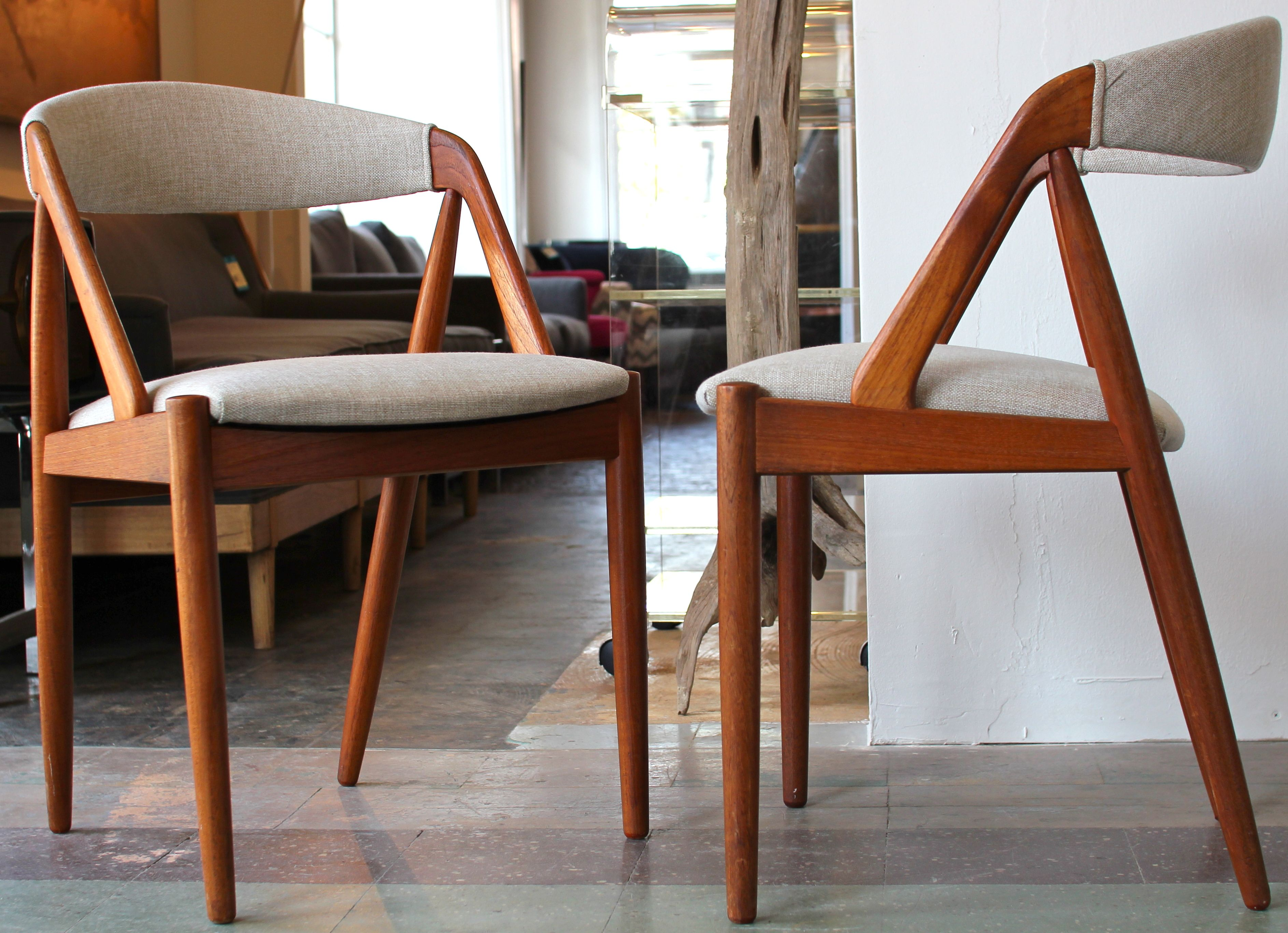 Danish Side Chairs By Kai Kristiansen Danish Modern Side Chairs