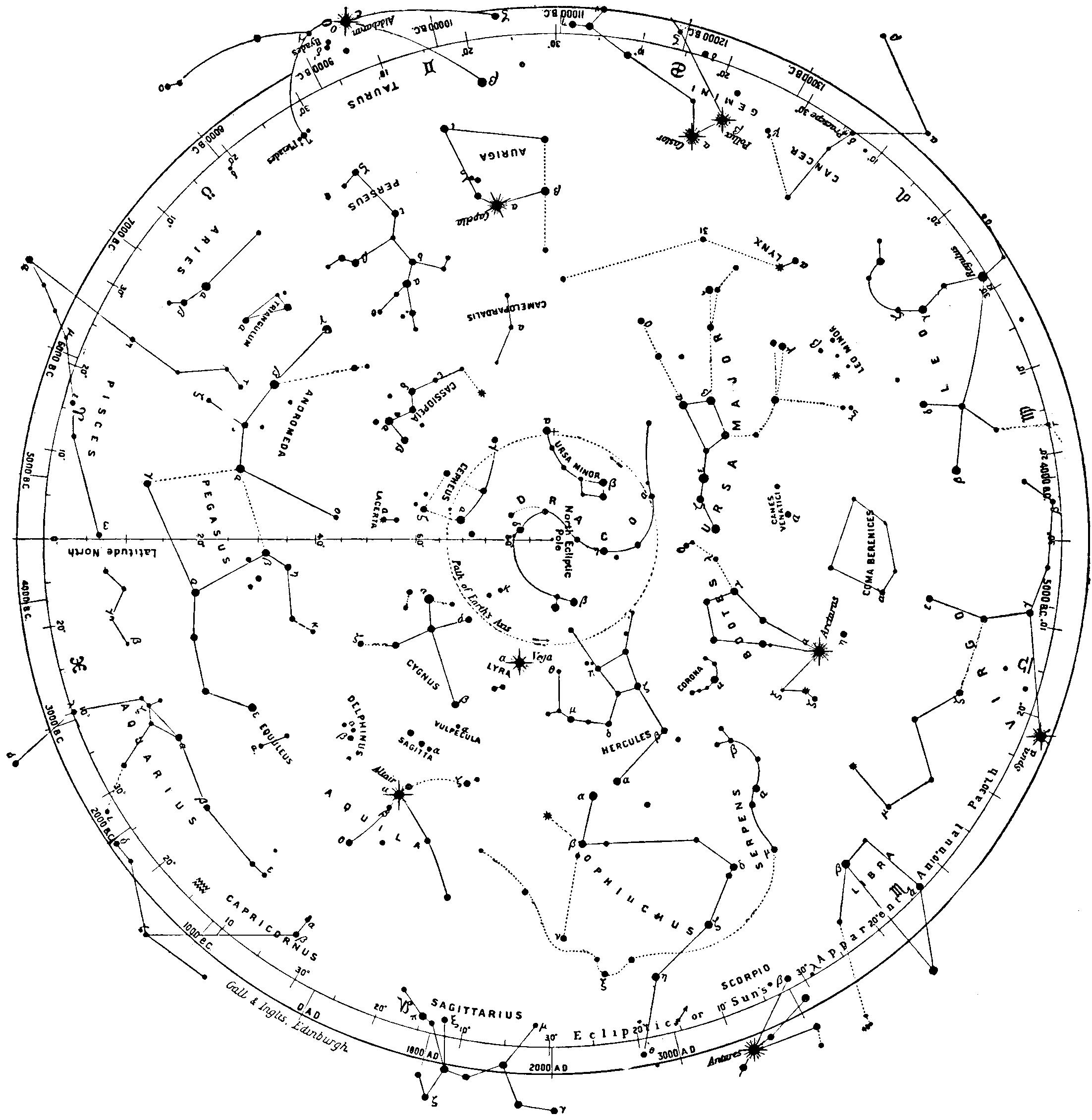 Ptolemy S Constellasions Northern Hemisphere