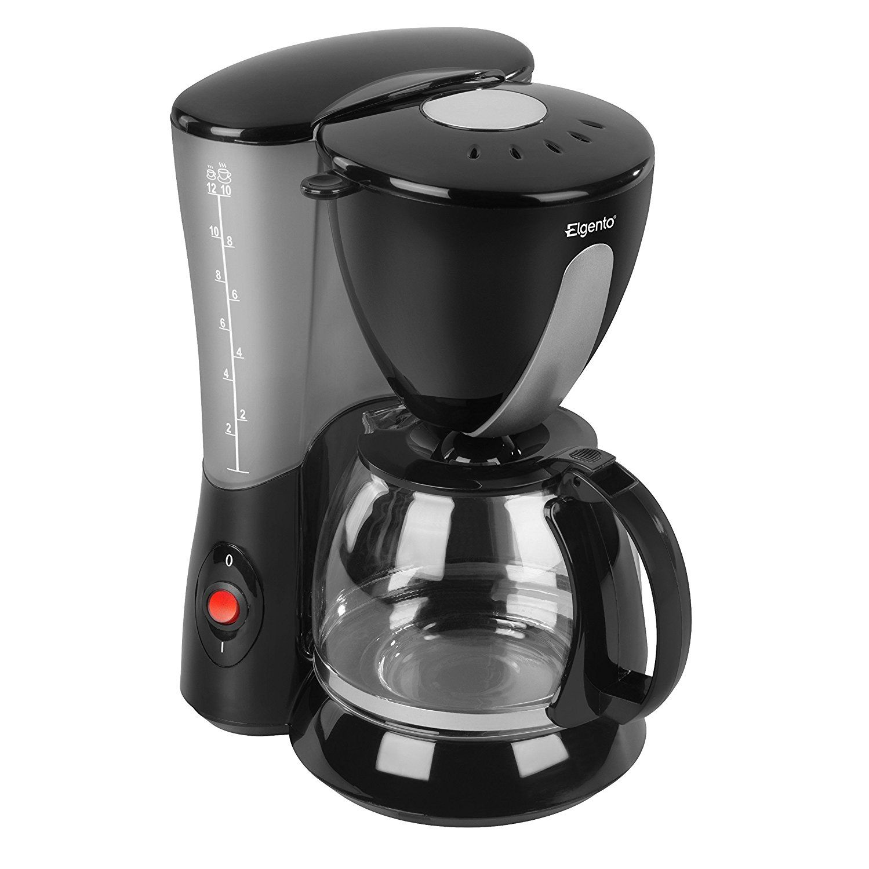 Elgento E13007 Coffee Maker, 800 W, 1.2 L Black Coffee