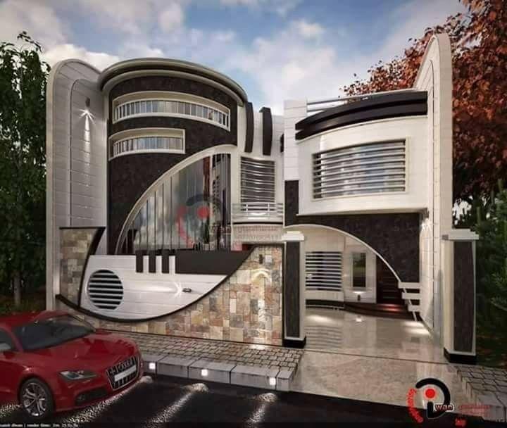 Futurista total casas dise os en 2019 pinterest for Casa moderna tunisie