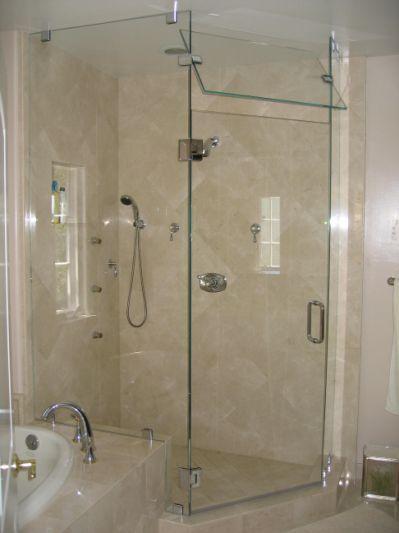 Frameless Steam Shower Door 2 Bathroom Ideas Pinterest Shower