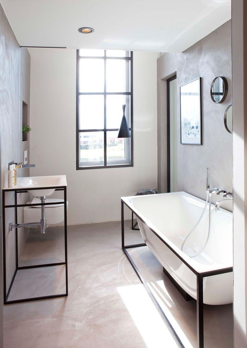 Een Beton Cire badkamer heeft naast een stoere uitstraling ook ...