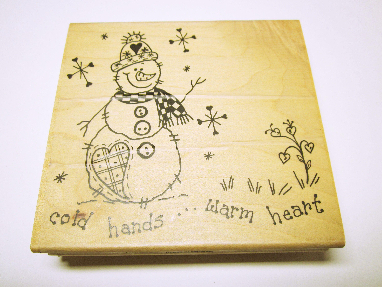 Snowman Christmas Stamp Card Making Scrapbooking Snowman Rubber ...