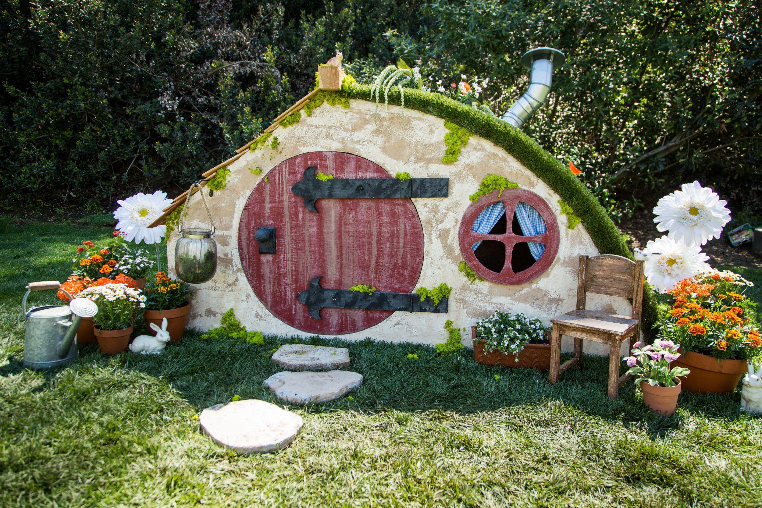 How To Diy Hobbit Hole Playhouse Home Family Hallmark