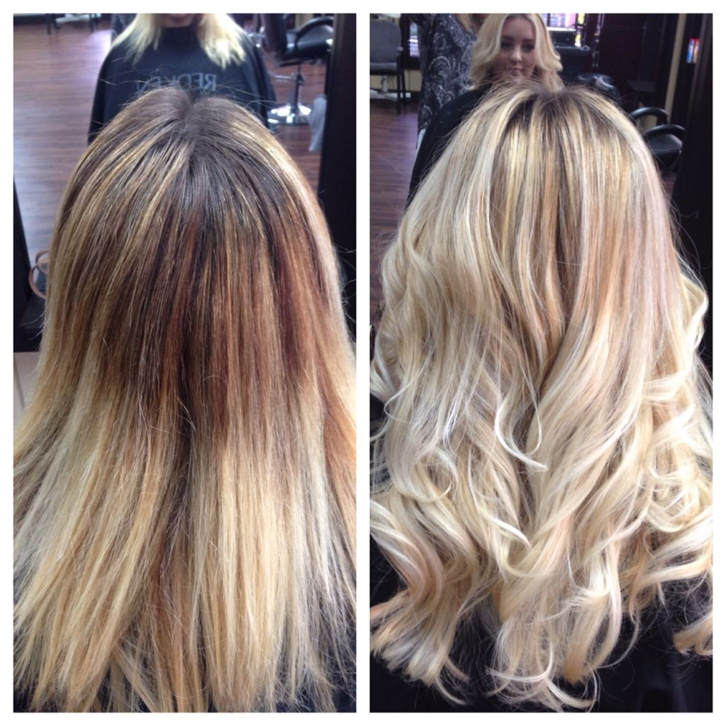 Before After Blonde Balayageolaplex Hair By Sarravenditti