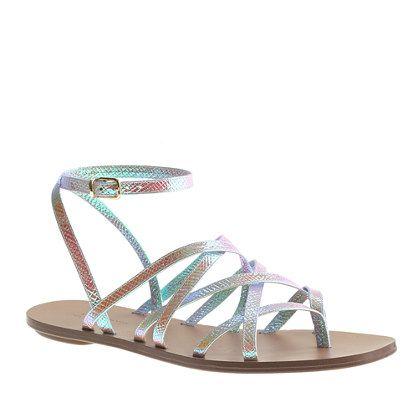 3ecc28a23db8 J.Crew - Clara iridescent sandals