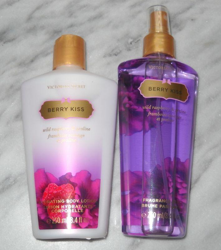 7ca992731a4e9 Lot of Victoria's Secret Berry Kiss Fragrance Mist Body Lotion ...