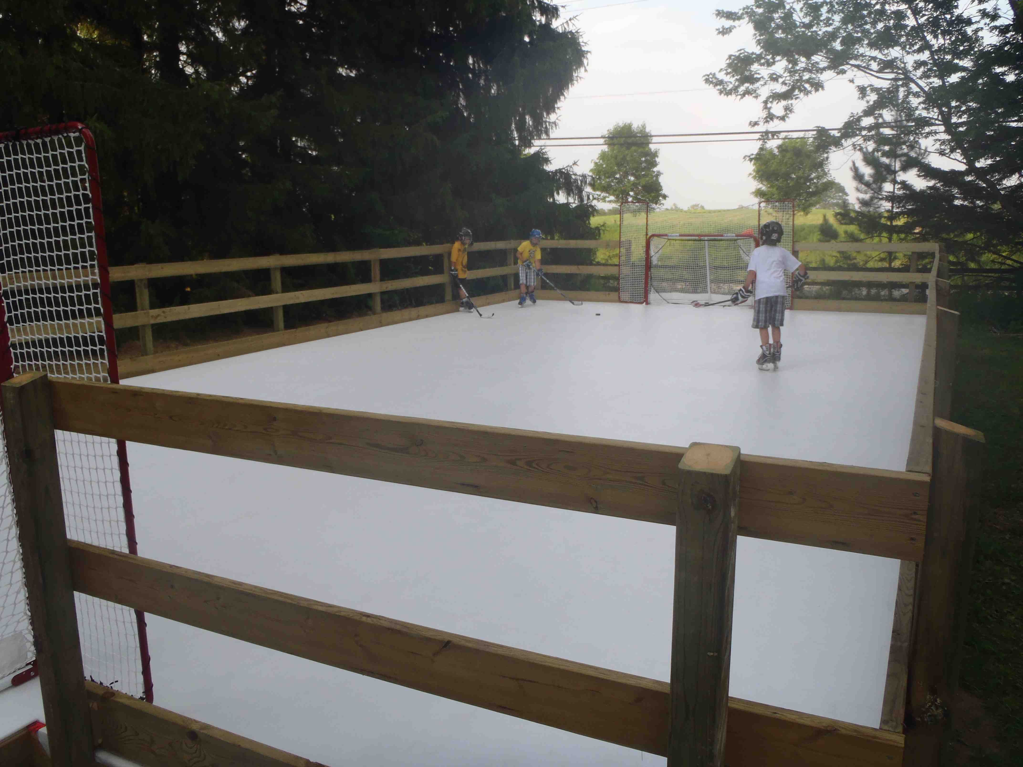 A backyard rink. Any weather. | Backyard rink, Backyard ...