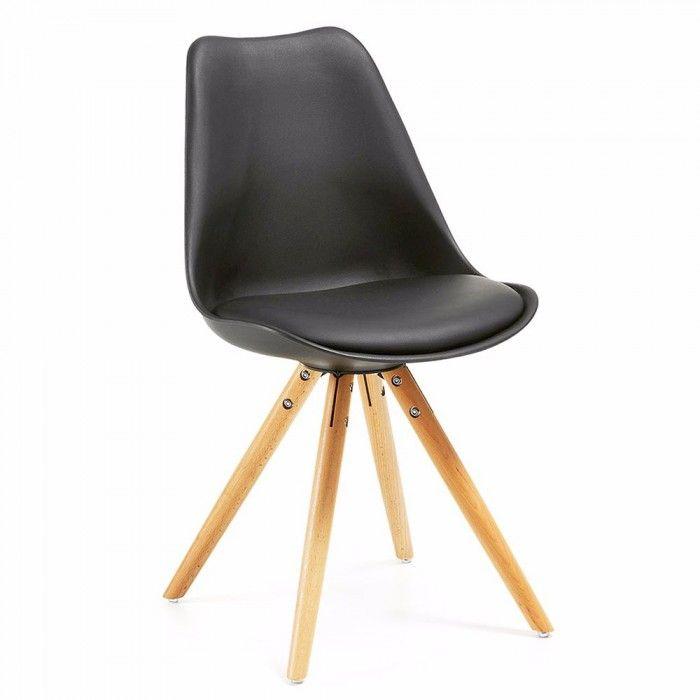 Silla n rdica negra tom wood para hogar sillas n rdicas chaise - Silla nordica negra ...