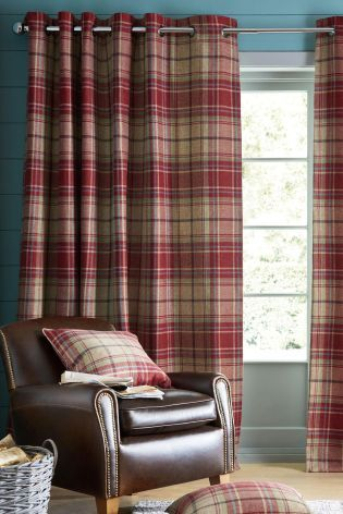 Red check curtains in your interior can only means one thing ...