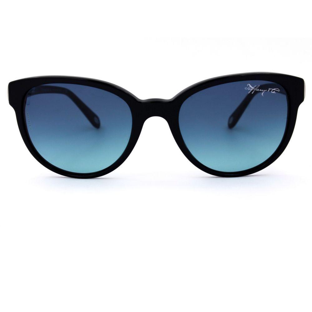 661e4848e69 1837 Round Cat Eye Black Sunglasses w Blue Gradient Lenses TF4109  TiffanyCo   CatEye