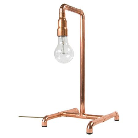 Tischlampe Sydney Kupfer Lampe Tischlampen Kupferrohr