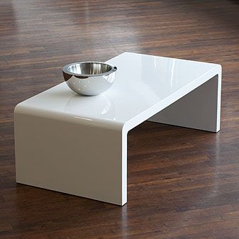 white coffee table- not sure if this would be client approved