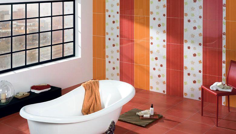 Atrevido diseño para el cuarto de baño de fuerte impacto visual ...
