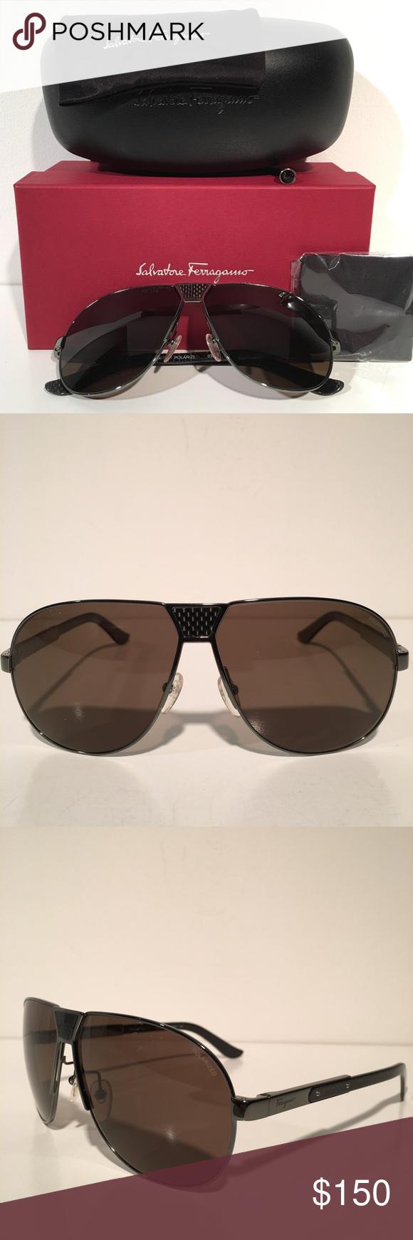 ❌SOLD❌Salvatore Ferragamo Grey Aviator Sunglasses Brand New In ... d94824fbcc