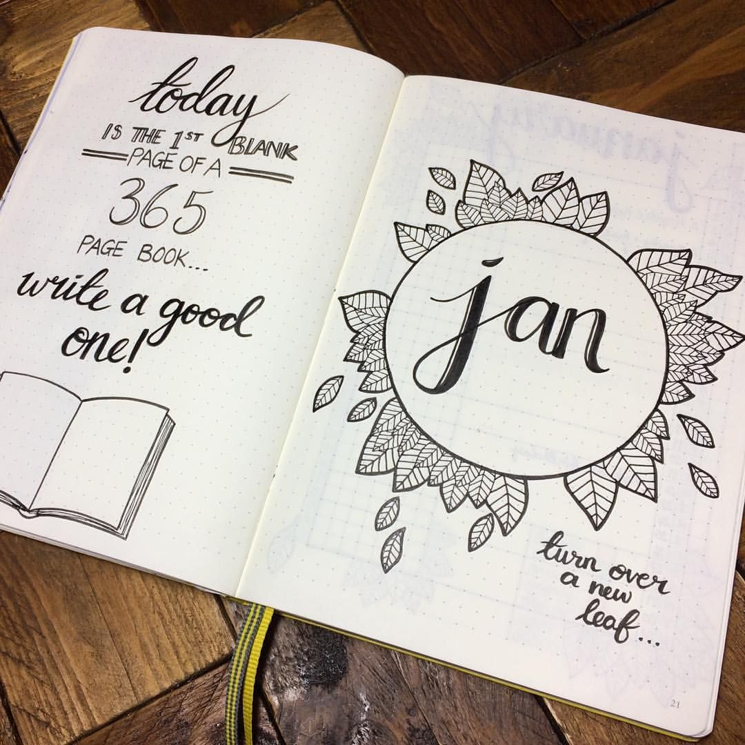 "AthenaInTheRain on Instagram: ""January cover page � #bulletjournal #bulletjournaling #bulletjournaljunkies #bulletjournals #bulletjournaladdict #bujo #bujobeauty…"""