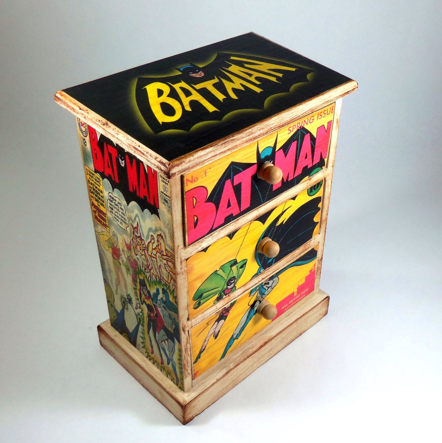 MADE to ORDER Jewelry Box Batman and Robin DC Comics Dorm