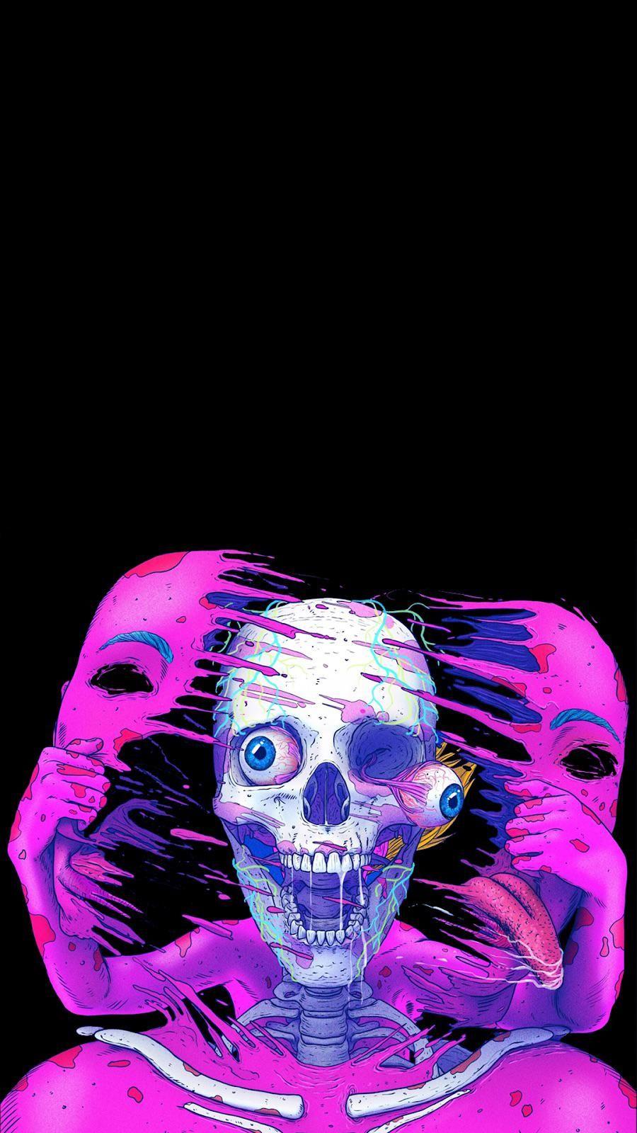 for OLED screens in 2020 Skull wallpaper, Cool wallpaper