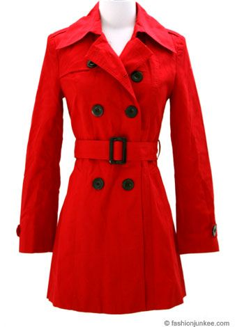 Long Red Raincoat | My Style | Pinterest | Red trench coat, Trench ...
