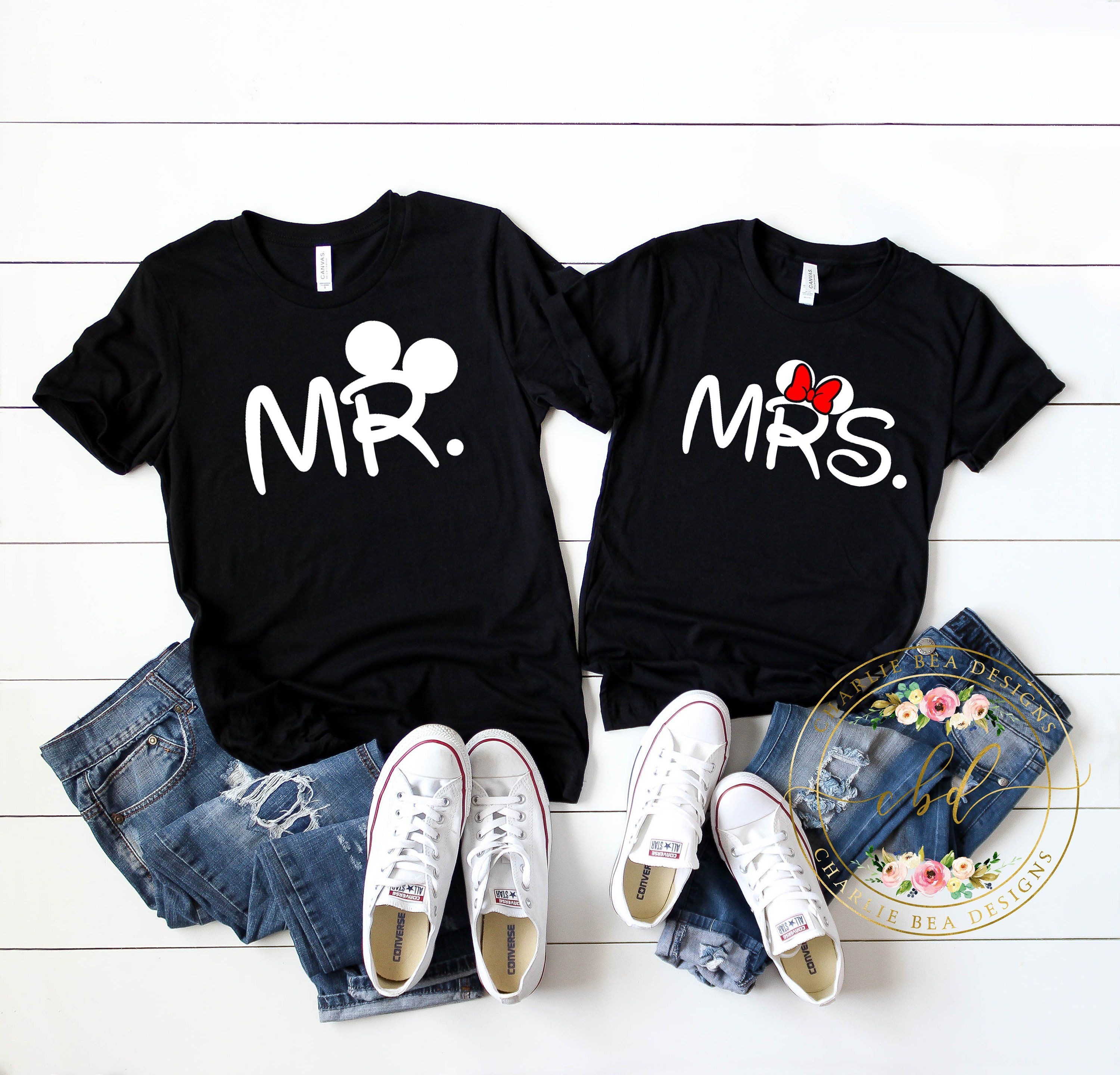 6d9713de6a Disney Shirt - Disney Couples Shirt - Mr. and Mrs. Mickey and Minnie Shirts  - Disney Honeymoon by CharlieBeaDesigns on Etsy