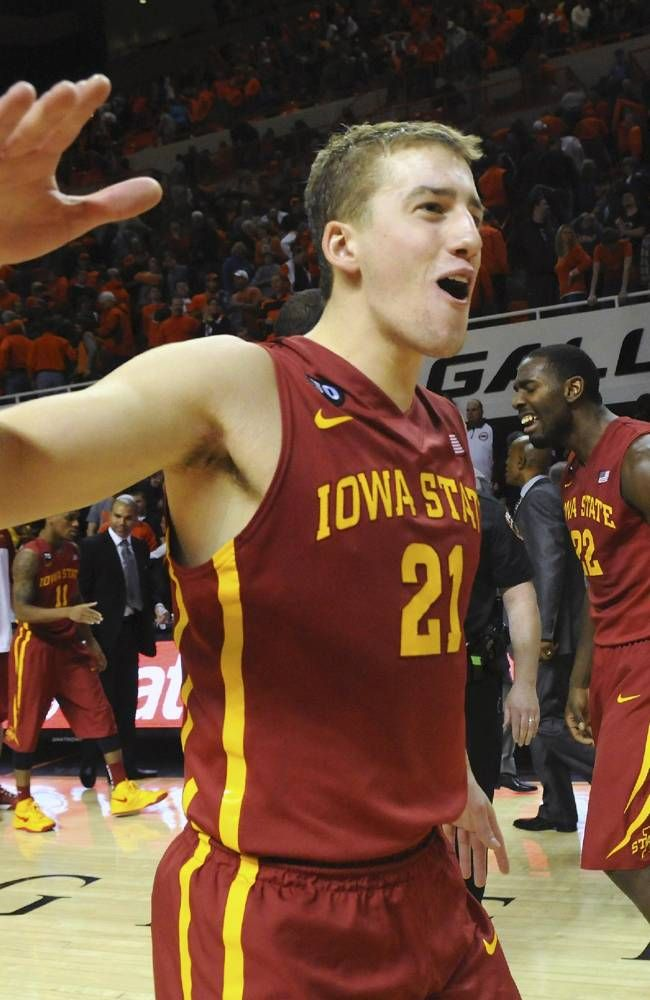 Iowa State Center Matt Thomas Iowa State Cyclones Iowa State