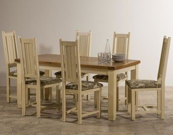 Phoenix Shabby Chic Oak And Painted Dining Set