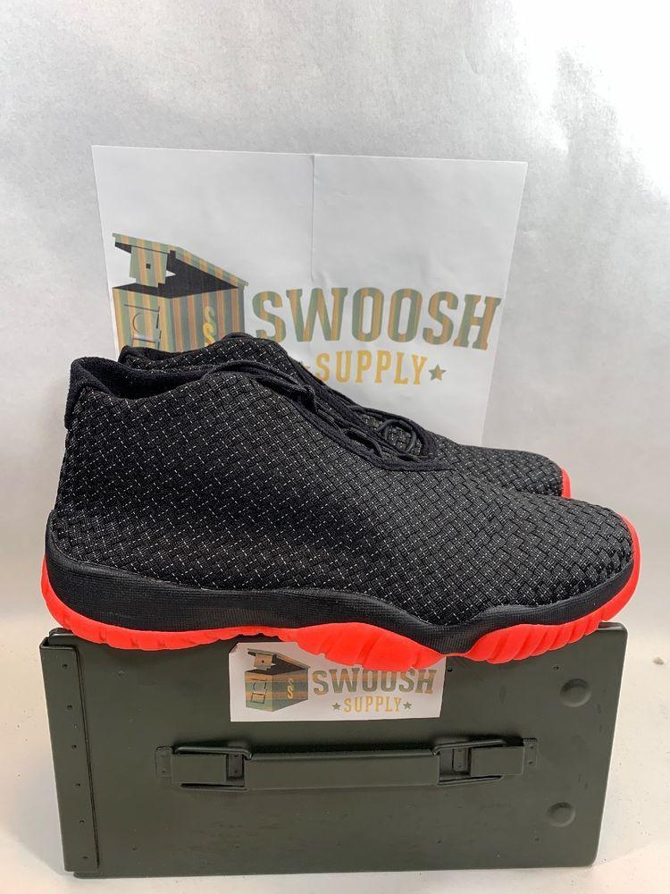 71c774583e10 Nike Air Jordan Future Premium BLACK INFRARED 23 RED ORIGINAL 652141-023 sz  12  Nike  AthleticSneakers