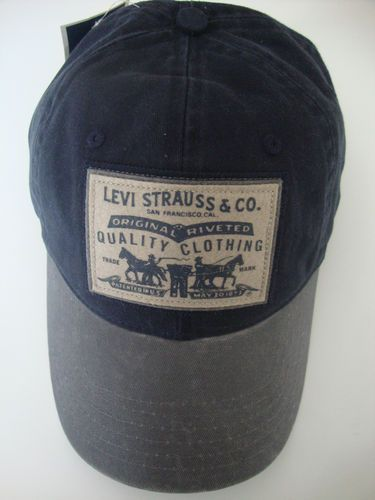 LEVI STRAUSS   CO. LEVI S JEANS HAT CAP in blue   gray cotton CASQUETTE 4bf3107621f