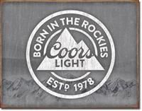 New Tin Sign Coors Light
