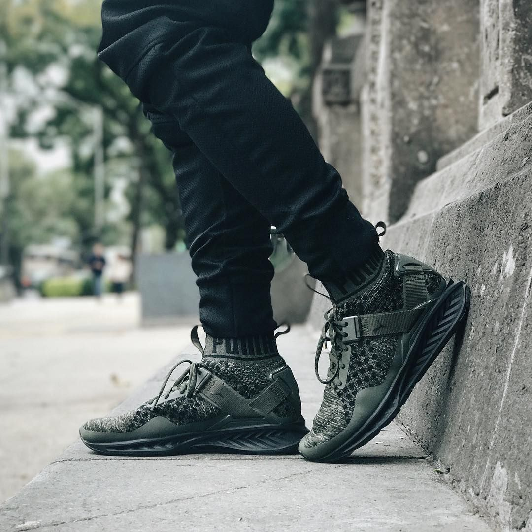 Puma Ignite Evoknit 'Olive' (via Kicks-daily.com)