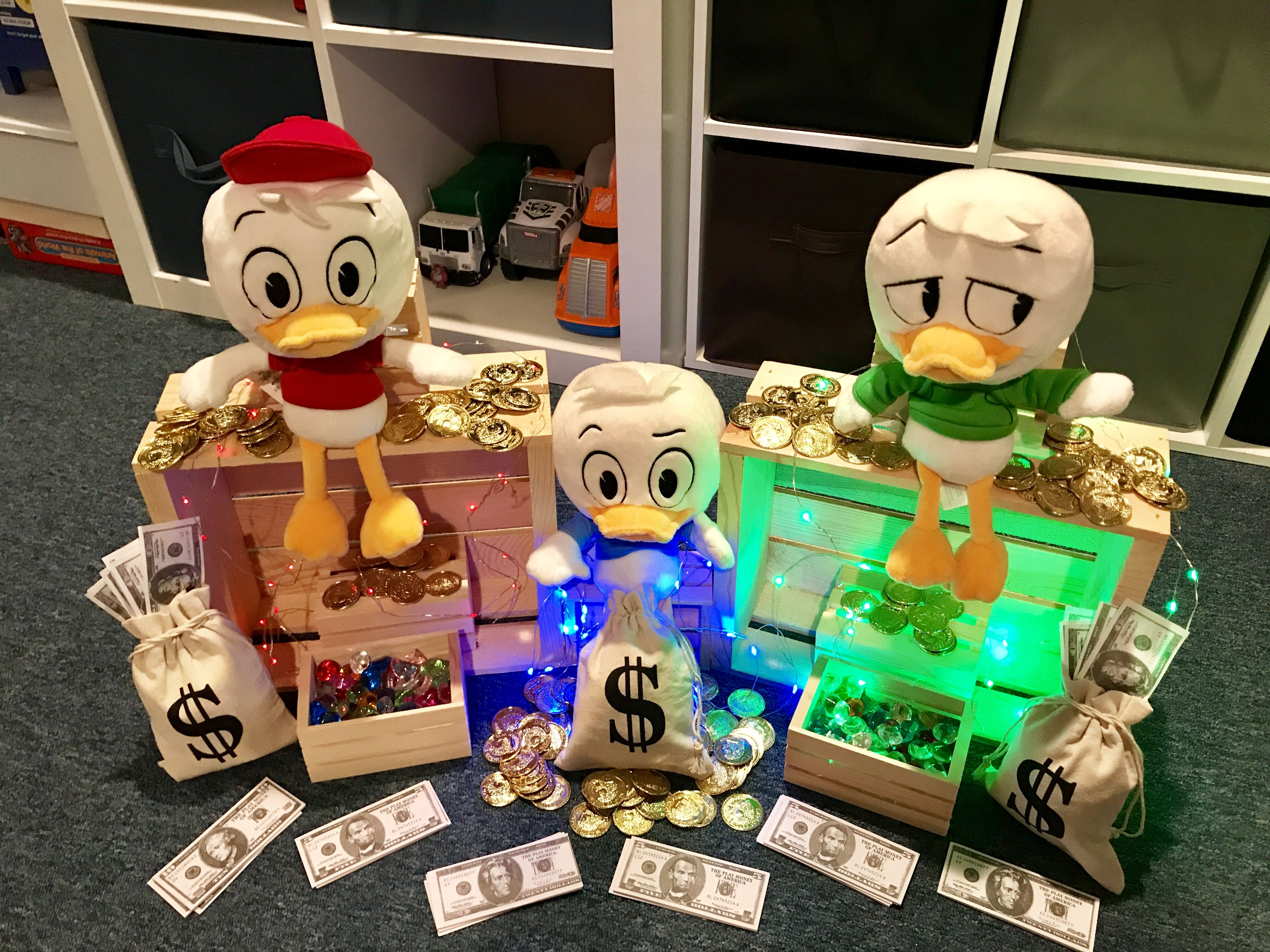 Ducktales Party Centerpiece Idea In 2019 Boy Birthday