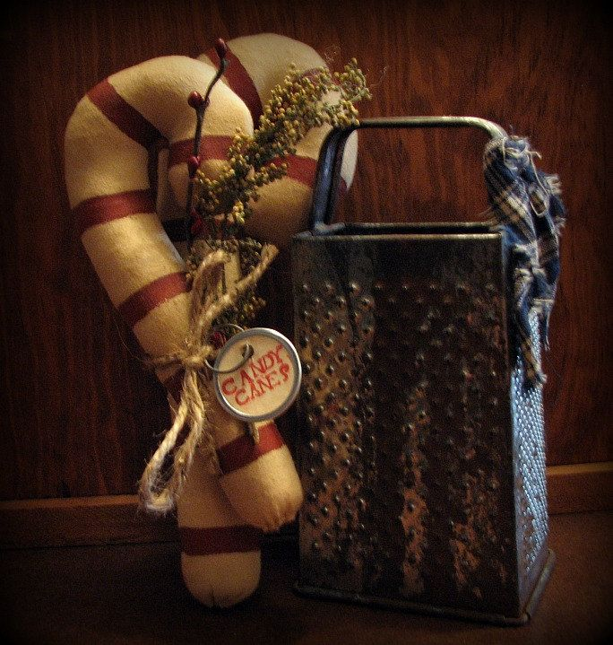 Candy Canes Primitive Christmas Decorations Country Decor Country - primitive christmas decorations