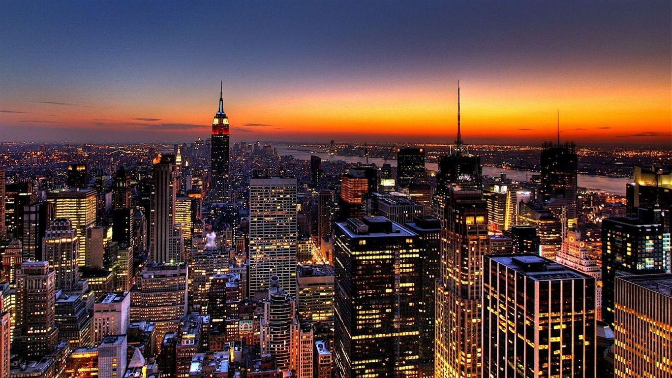 nyc skyline photos New York skyline Wallpaper 1366x768