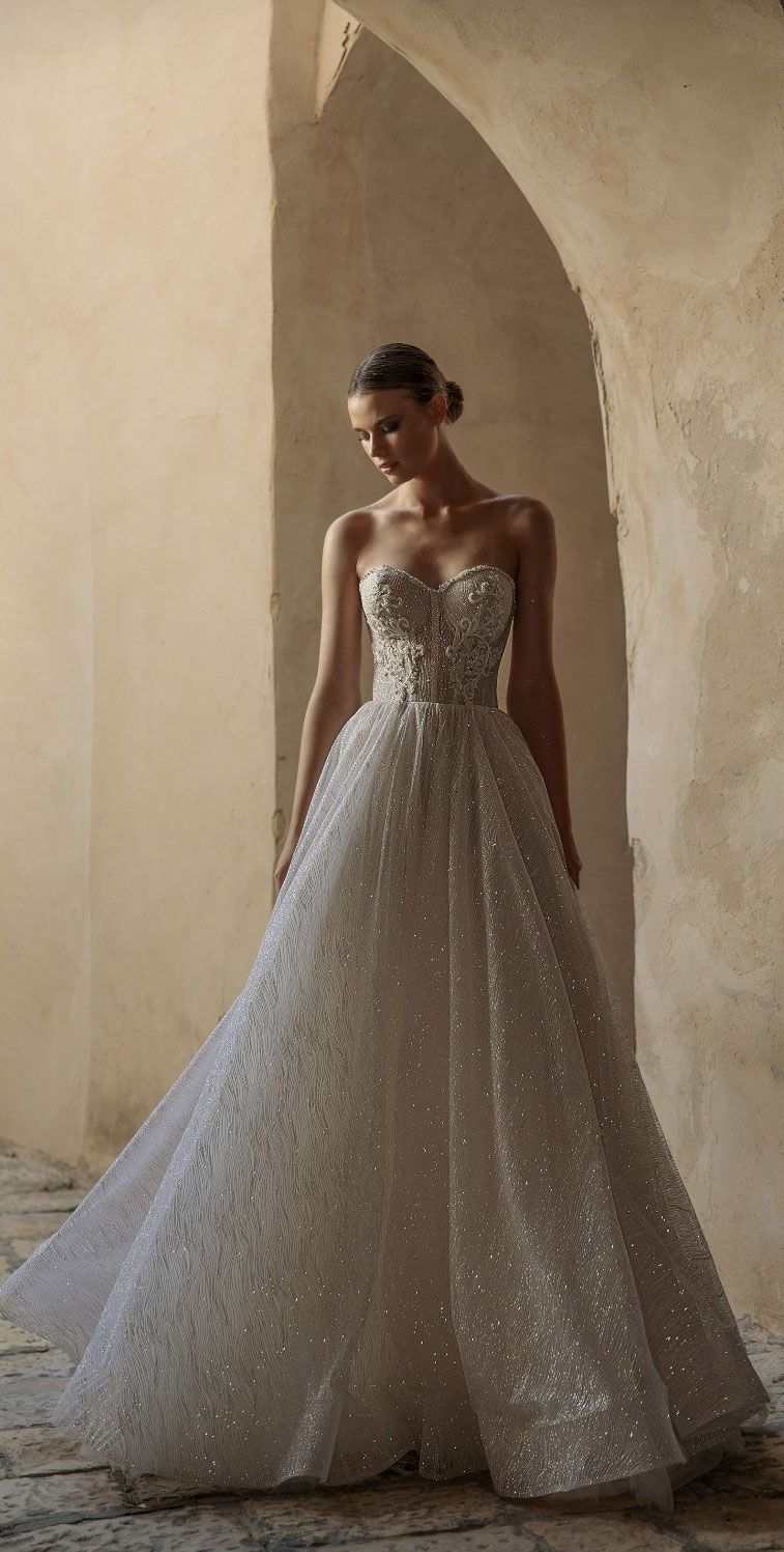 Sweetheart neckline a line wedding gown Eden Aharon Wedding Dresses 2019 - Broadway Bridal Collection #wedding #weddingdress #weddinggown