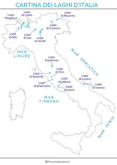 Cartina Dei Laghi Ditalia In Versione Muta O Completa Pinterest