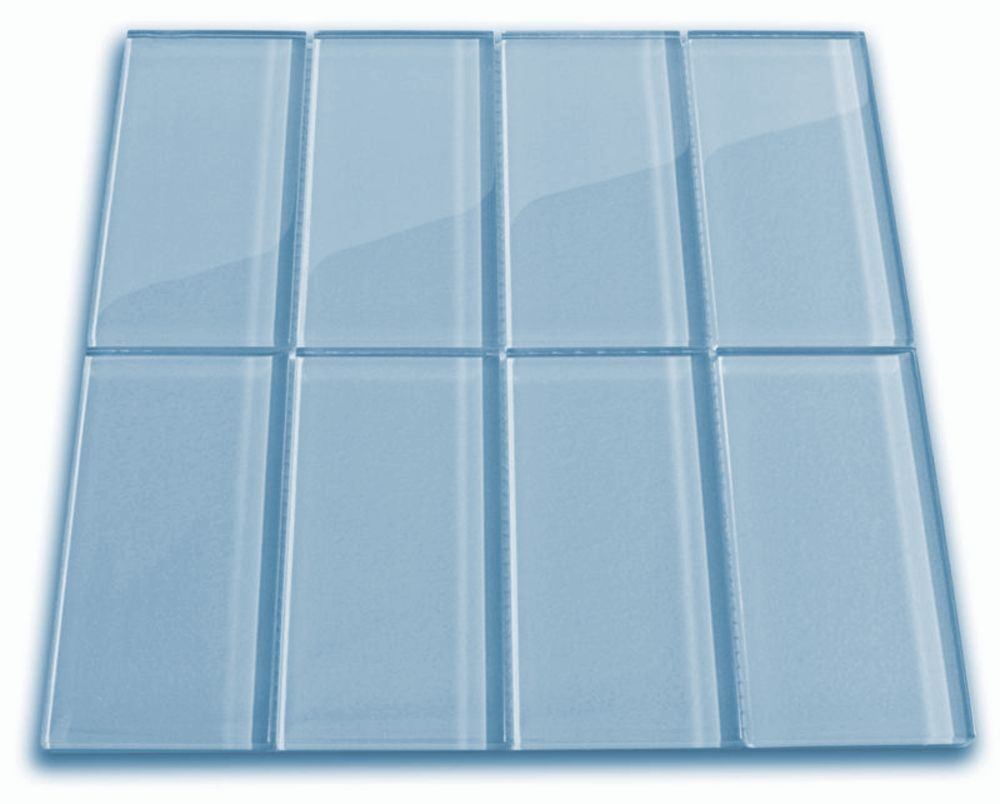 Sky Blue Glass Subway Tile | Subway tiles, Glass and Residential ...