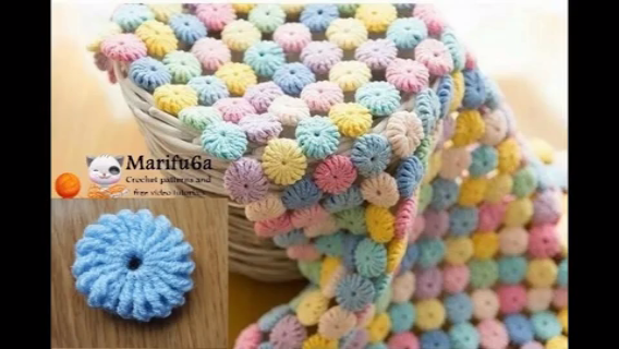 Photo of How to crochet Macaron circle afghan blanket free easy pattern tutorial for beginner step by step