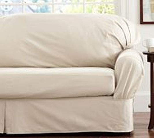 Pottery Barn SEPARATE SEAT Slipcover- LARGE Sofa- SQUARE