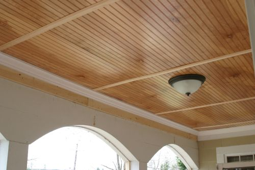 Beadboard Ceiling Put Lots Of Insulation In Use Pine Batons To Cover Seams Ceiling Materials Beadboard Ceiling Wooden Ceiling Design