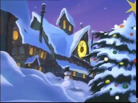 dessins anime le noel des 9 chiens les elfes du p le nord ont d pos le dernier cadeau dans la. Black Bedroom Furniture Sets. Home Design Ideas