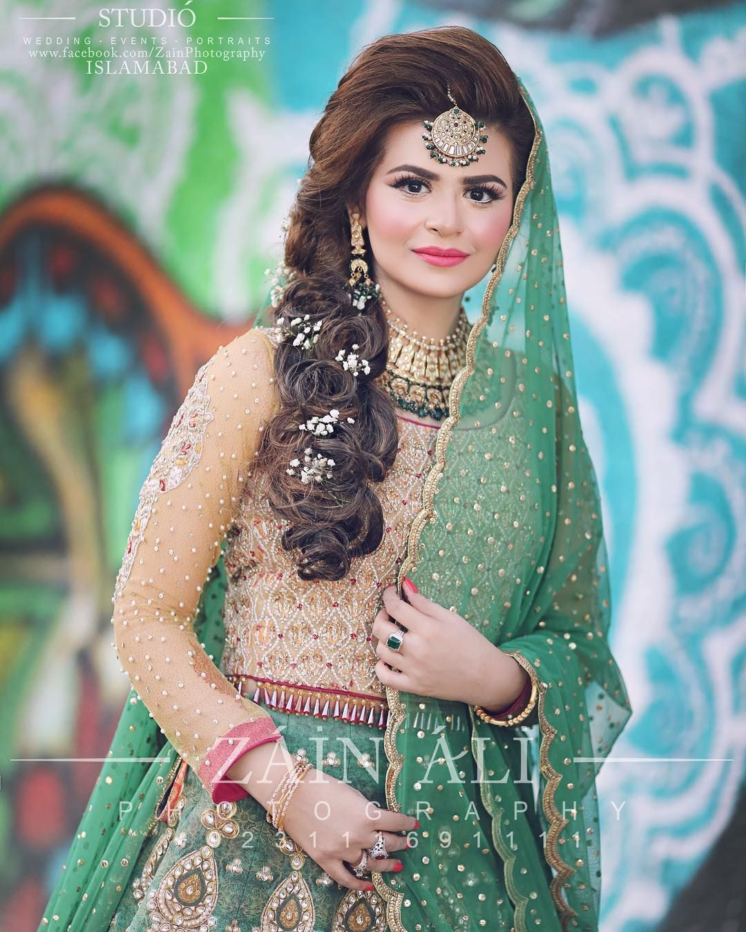 Latest Pakistani Bridal Hairstyle: Pakistani Brides Giving Major Bridal Hairstyle Goals