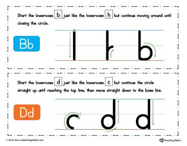 BD Letter Reversal Poster Using Similar Letter Formation In Color