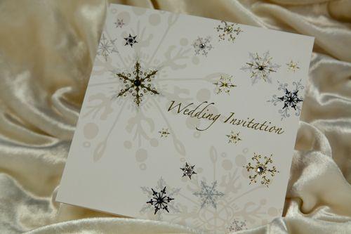 Thiệp cưới phong cách mùa đông cho bạn