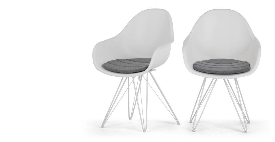 2 X Luus Armlehnstuhle Weiss Esszimmerstuhle Stuhle Stuhl Design