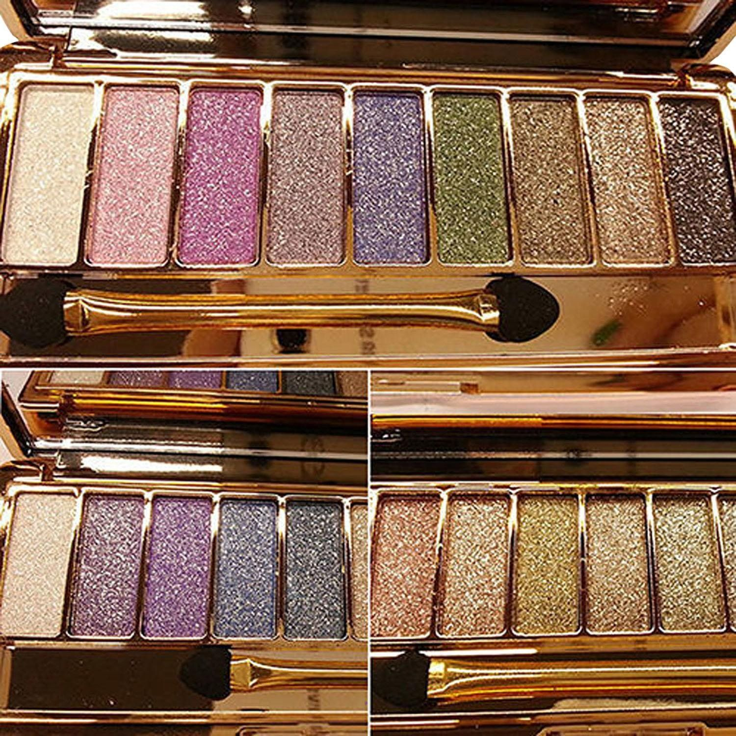 Eye Shadow 1pcs 6 Color Liquid Eyeshadow Sand Drift Dish Eye Makeup Waterproof Mineral Powder Shimmer Eye Shadow Make Up Cosmetics