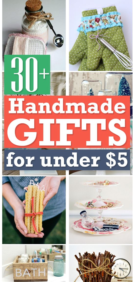 30+ Handmade Gifts for under $5   Homemade christmas gifts ...